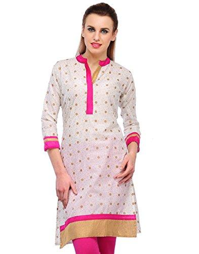 Cenizas Women Cotton Straight Kurta (Kurtis/2110/Pnk/Xl _Multi-Coloured _X-Large)