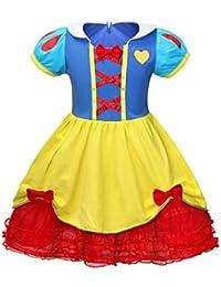 AmzBarley Vestito Principessa Biancaneve Anna Rapunzel Costume Bambina Vestiti  Costumi Carnevale Bambini Ragazza Abiti Festa Fantasia… 744ca203b070