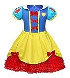 AmzBarley Vestito Principessa Biancaneve Costume Bambina Vestiti Costumi Carnevale Bambini Ragazza Abiti Festa Fantasia Compleanno Vacanza Partito Abito