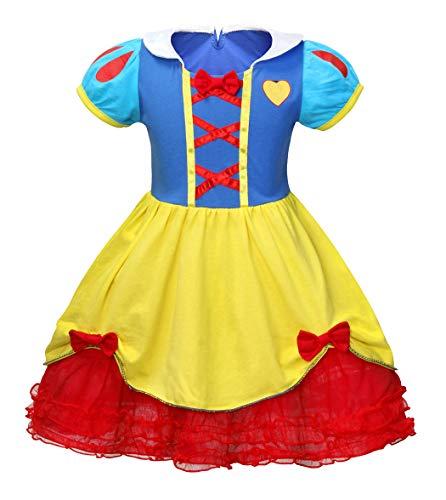 AmzBarley Prinzessin Schneewittchen Kostüm Kinder Mädchen Schick Party Kleid Halloween Cosplay Kleider Karneval Kostüme Geburtstag Ankleiden Urlaub Zeremonie Festzug Kleidung (Schickes Kleid Für Halloween)