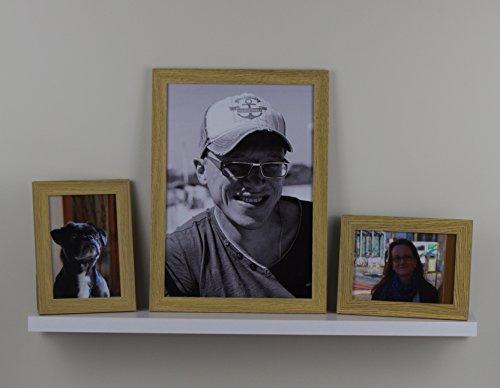 3 Stck. Iris Bilderrahmenleiste Set bestehend aus Fotoleiste in weiß und 3 Bilderrahmen in zwei verschieden Farben hier: Eiche