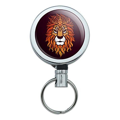 Löwe Religiöse King Krone Bibel Christian Heavy Duty Metall Retractable Reel ID Badge Key Card Tag Holder mit Gürtel Clip