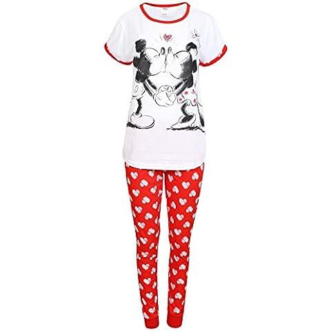 Pijama de mujer para senderismo sifón sea traje de neopreno para mujer Minnie Mouse pijama pantalones de algodón en la parte superior y conjunto de cinta y