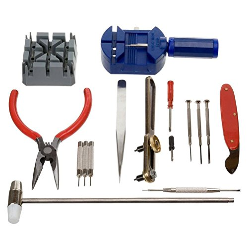 OULII 16pcs Watch luxe ouvreur Tool Kit réparation Pin Remover réparation de montres outils Kit