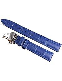 Andre 12-22mm Bleu Luxe en Cuir de Montre pour Femmes Bracelet de Courroie  De 3d781768afb