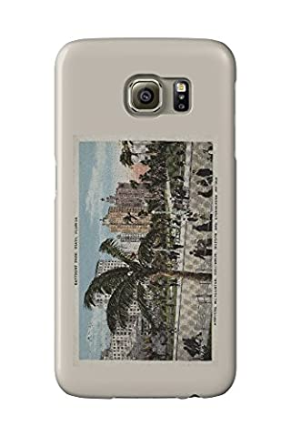 Miami, Florida - View of Bayfront Park and Hotels - Vintage Poster (Galaxy S6 Cell Phone Case, Slim Barely There)