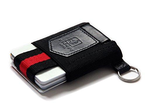 HIGHER LEVEL Card Wallet minimalistischer Alleskönner kleiner dünner Kartenhalter mini Geldbörse mit Schlüsselring