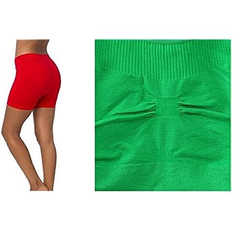 Kelly Verde, sin costuras espalda cruzada sujetador deportivo ejercicio yoga fitness Top sin + Rojo, sin costuras elástico Yoga pantalón corto color Spandex medias de bicicleta de