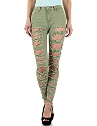 Destroyed Cropped Skinny Jeans Für Damen bei Ital-Design