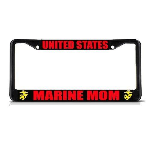 Teisyouhu Nummernschild-Rahmen USA Marine Mutter Schwarz Geschenk Auto Zubehör Tag Geschenk für Frauen