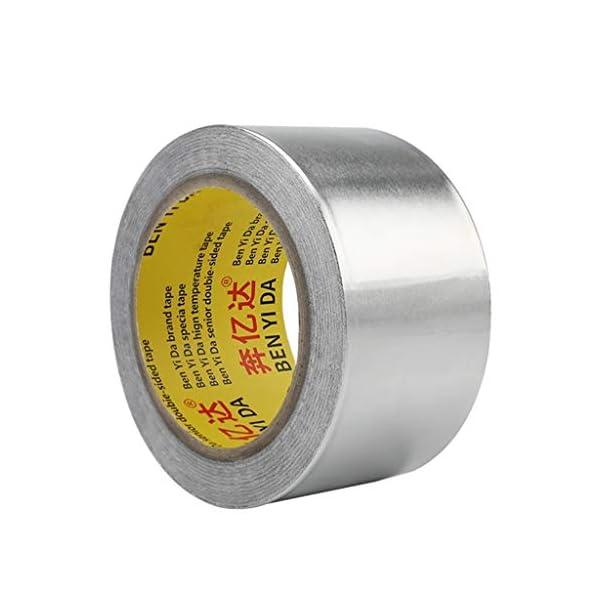Cinta de aluminio – Mejor for el HVAC, conductos, aislamiento y aluminio resistente cinta de la hoja, multiuso de aluminio cinta de la hoja espesada alta temperatura de sellado a prueba de agua de la