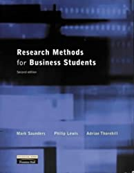 Research Methods for Business Students by Mark Saunders (1999-12-03)