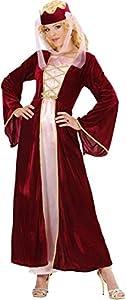 WIDMANN Disfraz de Reina Medieval Adulto Carnaval