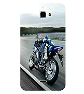For Coolpad F1 8297 :: Coolpad F1 8297W Bike, Black, Sports Bike, Great pattern, Printed Designer Back Case Cover By CHAPLOOS