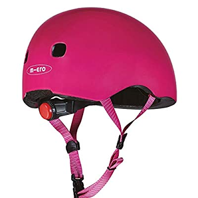 Micro Childrens Rear Light Helmet Pink Small 48-54Cm Girls Kids Cycling Scooting Skateboarding from Micro