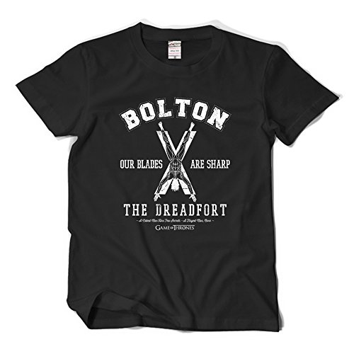 CosDaddy ® Valar Morghulis House of Black & White T-Shirt Bequem Baumwolle Cosplay Bolton 2