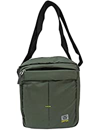 Dafter Travel Sling Bag - Olive Green Water Resistance Polyester Bag With Multiple Pockets And Padded Section...