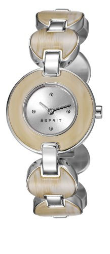 ESPRIT Damen-Armbanduhr Lagoon Tortoise Analog Quarz Edelstahl ES106572001