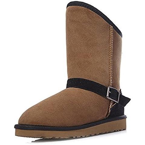 Pelliccia di pecora di moda inverno stivali da neve/Avvio a caldo/ aggiunto cotone stivali/Scarpe con neve di cotone spesso