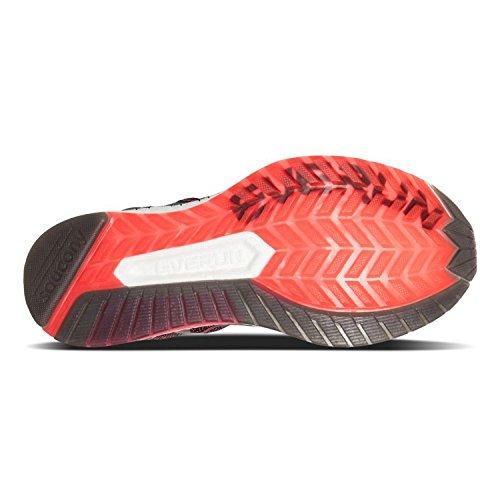 Saucony Liberty ISO, Scarpe da Fitness Donna Rosso/nero/grigio (Viz Red / Blk / Gry 2)