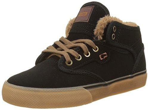 Globe Jungen Motley Mid Skateboardschuhe, Mehrfarbig (Black/Gum/fur), 36 EU (Schuhe Kinder Globe)