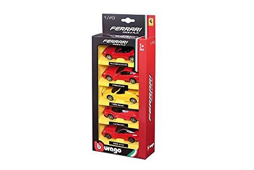 BURAGO Pack 5 voitures Ferrari 1/43eme 4893993360055