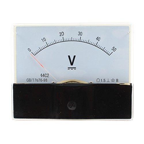 DealMux Klasse 1.5 DC0-50V Analog Spannungsvoltmeter Schalttafel Volt Meter 44C2 50v Analog