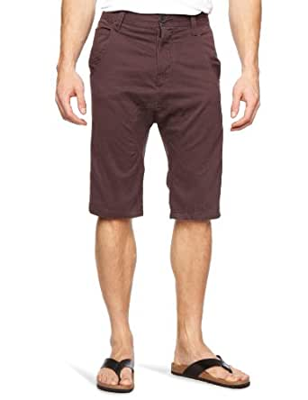Bellfield Men's Shorts, Aubergine, W28