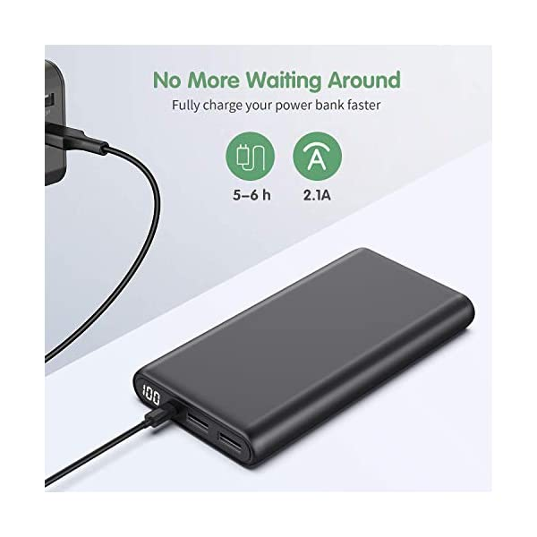 Trswyop Power Bank 26800mAh, 【Versione Migliorata】 Caricabatterie Portatile con LED Digitale Display Batteria Esterna… 5 spesavip