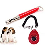 SRI Pet Training Clicker and Whistle for Dog, Cat, Kitten, Puppy, Birds (Multicolour)
