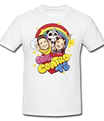 Mimoma t-shirt maglietta maglia me contro te ragazzi 100% poliestere lavabile in lavatrice (12/14)