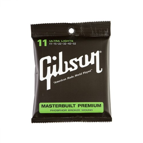 Gibson MB11 Masterbuilt Premium Satz 011-052 - Ultra Lights (Saitensatz f. Westerngitarre)