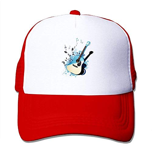 deyhfef Music Guitar Adjustable Sports Mesh Baseball Kappen Trucker Cap Sun Hüte ()