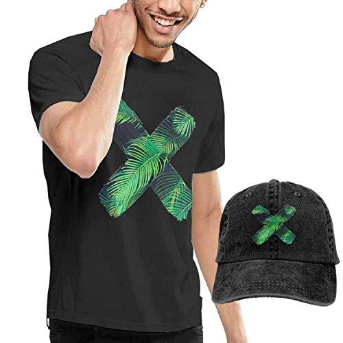Kalinanai T-Shirts, T-Stücke, Green Tropical Plant X Herren Soft Causal T-Shirt mit Unisex Fashion Denim Baseball Hats