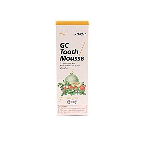 GC Tooth Mousse Zahnschutzcreme Tutti-Frutti, 1er Pack (1 x 40 g) -