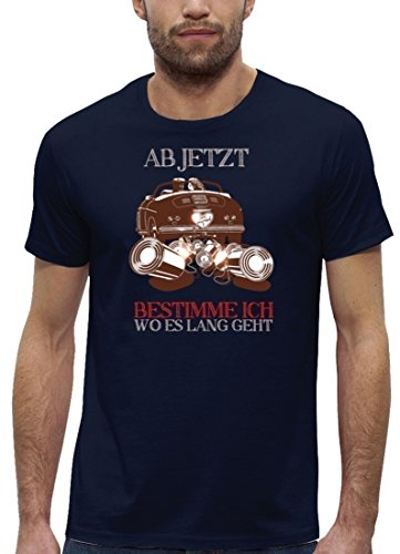 Junggesellenabschieds JGA Hochzeit Herren T-Shirt Bio Baumwolle Just Married - Jetzt bestimme ich Navy