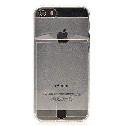 iProtect coque pour Apple iPhone 5,5s souple en TPU avec compartiment supplémentaire pour photos Polaroid Instax Mini