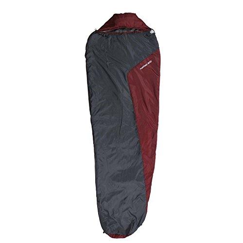 10T Schlafsack Hatfield -6° warm weich 800g leicht Mumienschlafsack 210x75 Grau/Rot 150g/m² waschbar