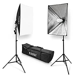 esddi softbox kit eclairage studio photo 800w 2 soft box 50x70cm lumi re continue 5500k pour. Black Bedroom Furniture Sets. Home Design Ideas