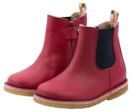 loud + proud Unisex-Kinder Chelsea Boots Rot (Purple)