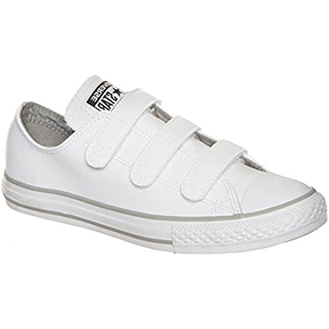 Converse Chuck Taylor All Star 2V Infant White Leather Trainers