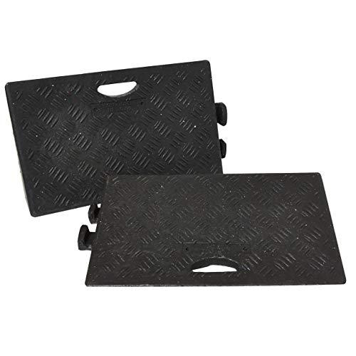 Traffic Safety Products 5051124416036 Bordstein-Rampen, 2 Stück, schwarz