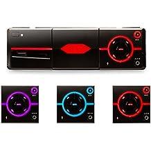 Auna MD-640 Radio para Coche Bluetooth USB SD MP3 AUX Negra (control a través de iOS/Android App, iluminación colores, 4x25W de potencia, autoradio, manos libres, radio FM, ecualizador de 2 bandas)