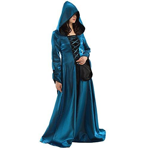 Maiden Kostüm - BLESSUME Damen Kleid blau blau Large