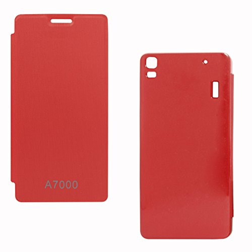 DMG Back Replace Flip Book Cover Case for Lenovo K3 Note/ Lenovo A7000 (Red)  available at amazon for Rs.199