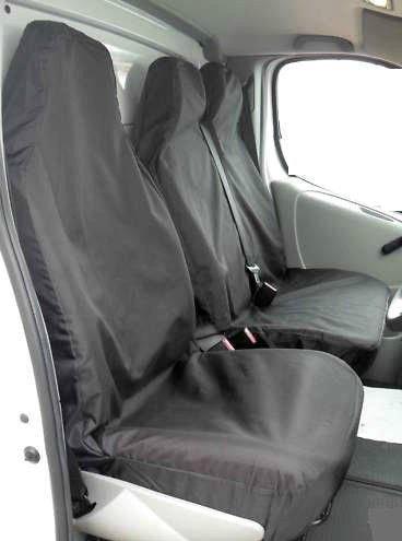 XtremeAuto, set di coprisedili universali super resistenti, per furgone, neri