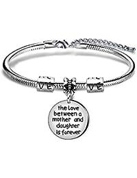 Pulsera para madre e hija, regalo familiar, joyería para mujeres y niñas, el amor entre madre e hija es para siempre