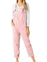 f5d7700fa156c QinMM Petos de Pantalones Largos Casual Playa Fiesta Noche Cóctel para  Mujer Mono