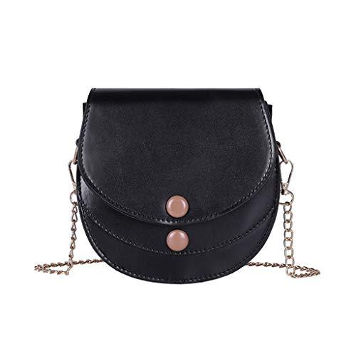 XZDCDJ Crossbody Tasche Damen Handtasche UmhängeTaschen Frauen Mädchen Mode, die Feste Schulter Handtaschen Geldbeutel Party Umhängetaschen näht Schwarz - Naht Strumpfband