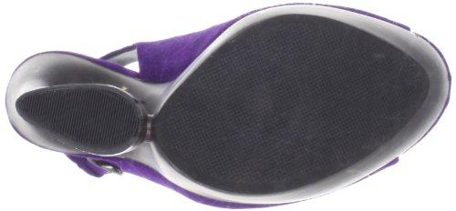 Pleaser Day & Night SWAN-654 Damen Plateau Slingpumps Purple Suede